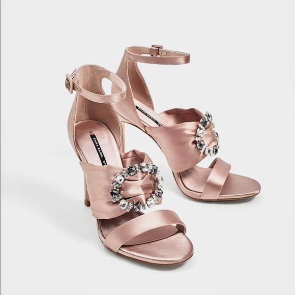 0097038d769 Zara Satin High Heel Sandal Us 8 Eu 39 New